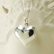 Silver 20mm Heart Necklace