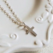 Silver Cross Necklace (Small)
