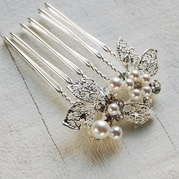 Pearl and Leaf Hair Comb