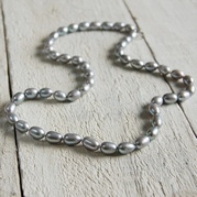 Grey Rice Pearl Necklace