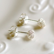 Tiny Textured Knot Stud Earrings