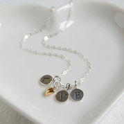 Love Necklace With Tiny Gold Heart Charm