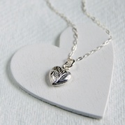 Patterned Heart Necklace