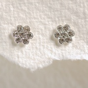 Diamante Flower Studs