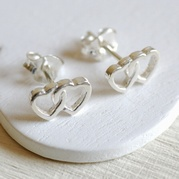 Twin Heart Stud Earrings