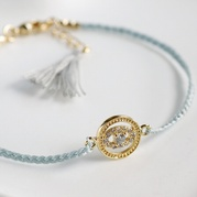 Grey Evil Eye Friendship Bracelet
