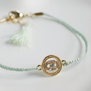 Mint Evil Eye Friendship Bracelet