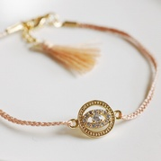 Peach Evil Eye Friendship Bracelet