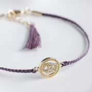 Purple Evil Eye Friendship Bracelet