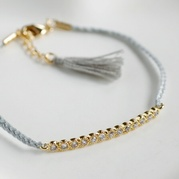 Grey Eternity Friendship Bracelet