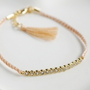 Peach Eternity Friendship Bracelet