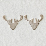 Silver Stag Earrings