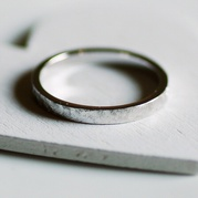Brushed Silver Ring