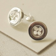 Large Button Stud Earrings