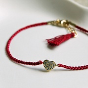 Red Heart Friendship Bracelet