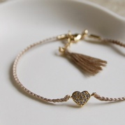 Fawn Heart Friendship Bracelet