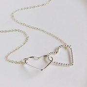 Silver Twin Hearts Necklace