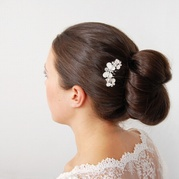 Moonstone Butterfly Hair Comb
