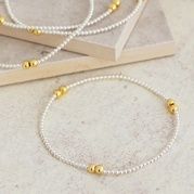 Gold and Silver Bead Bracelet